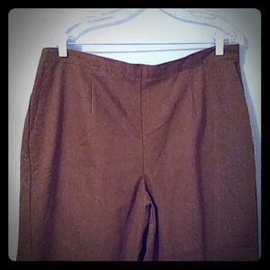 Alfred Dunner Stretch Denim Pants Sz 16W NWT Brown